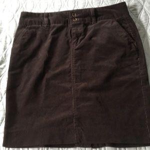Brown corduroy Fall skirt